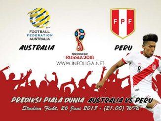 Prediksi Bola Piala Dunia Australia VS Peru 26 Juni 2018