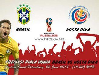 Prediksi Bola Piala Dunia Brasil VS Kosta Rika 22 Juni 2018
