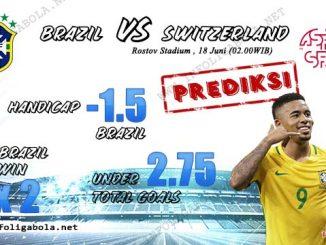 Prediksi Bola Piala Dunia Brazil VS Switzerland 18 Juni 2018
