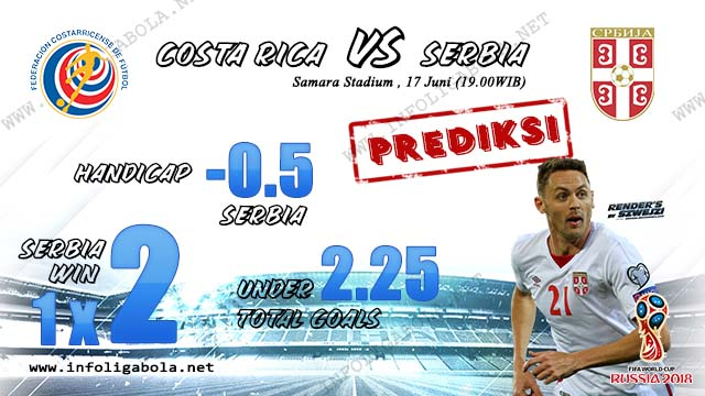 Prediksi Bola Piala Dunia Costa Rica VS Serbia 17 Juni 2018