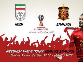 Prediksi Bola Piala Dunia Iran VS Spanyol 21 Juni 2018