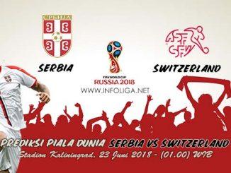 Prediksi Bola Piala Dunia Serbia VS Switzerland 23 Juni 2018
