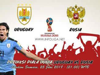 Prediksi Bola Piala Dunia Uruguay VS Rusia 25 Juni 2018