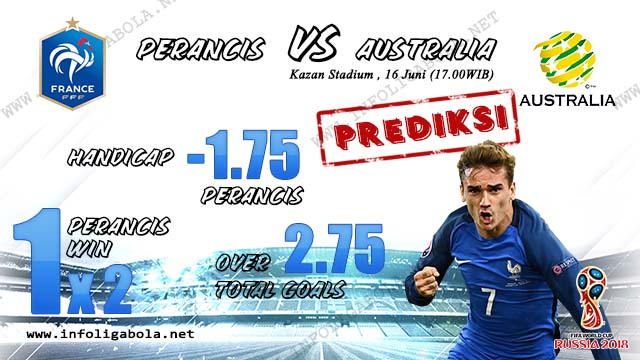 Prediksi Piala Dunia Perancis VS Australia - 16 Juni 2018
