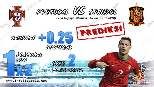 Prediksi Piala Dunia Portugal VS Spanyol, 16 Juni 2018