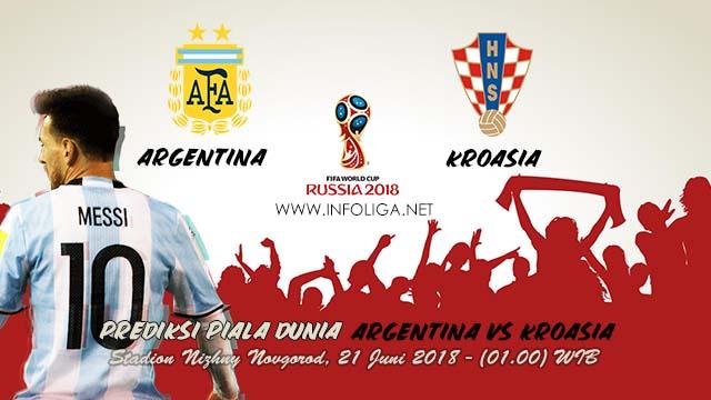 Prediksi Bola Piala Dunia Argentina VS Kroasia 22 Juni 2018