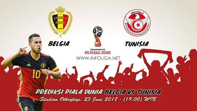 Prediksi Bola Piala Dunia Belgia VS Tunisia 23 Juni 2018