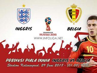 Prediksi Bola Piala Dunia Inggris VS Belgia 29 Juni 2018