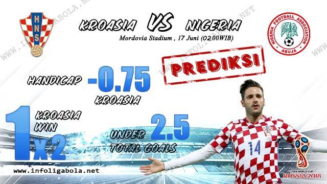 Prediksi Bola Piala Dunia Kroasia VS Nigeria, 17 Juni 2018