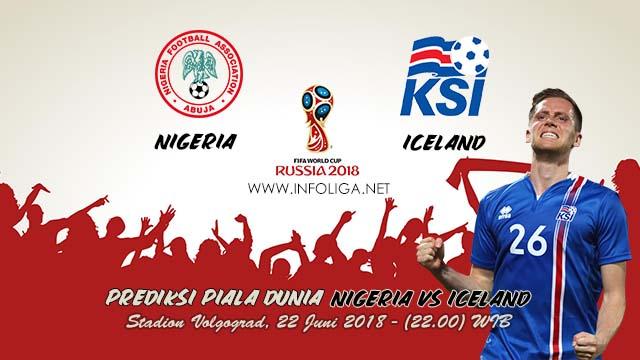 Prediksi Bola Piala Dunia Nigeria VS Iceland 22 Juni 2018