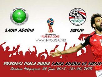 Prediksi Bola Piala Dunia Saudi Arabia VS Mesir 25 Juni 2018