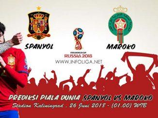 Prediksi Bola Piala Dunia Spanyol VS Maroko 26 Juni 2018