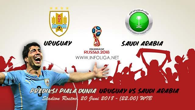 Prediksi Bola Piala Dunia Uruguay VS Saudi Arabia 20 Juni 2018