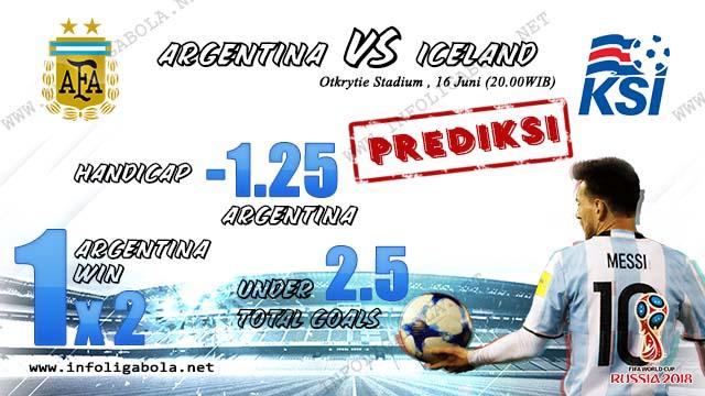 Prediksi Piala Dunia Argentina VS Iceland, 16 Juni 2018