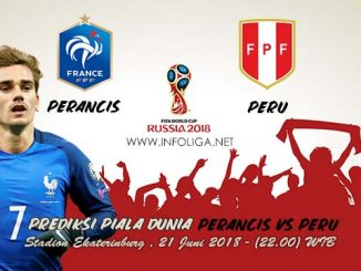 rediksi Piala Dunia Perancis VS Peru 21 Juni 2018