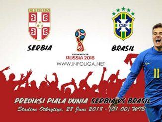 Prediksi Piala Dunia Serbia VS Brasil 28 Juni 2018